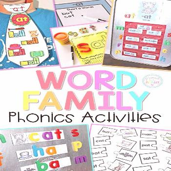 Word Family Activities for Short Vowels Bundle Help kids learn to read with these word family phoni