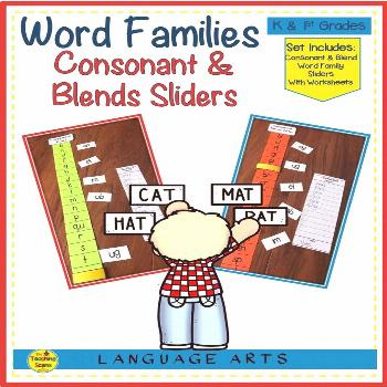 Word Family Consonant & Blend Sliders Are you looking for an activity to enhance your student word