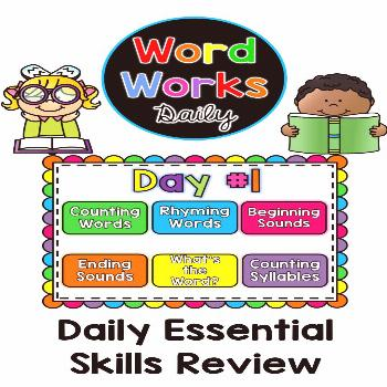 Word Works Daily Word Works Daily is a daily Phonological Awareness review in both a Printable and