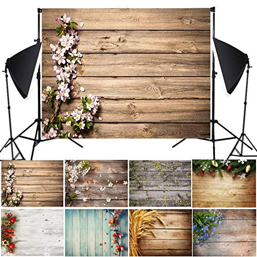 3D Photography Backdrops Spring Nature Wood Wall Flowers