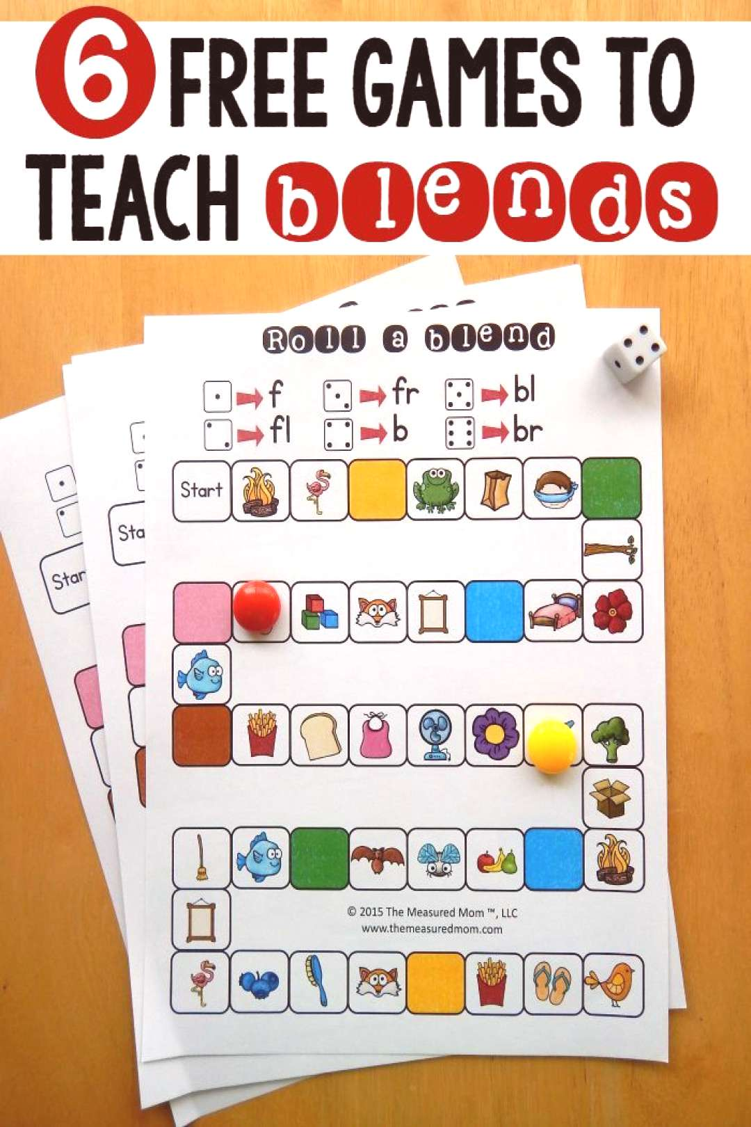 6 free games for teaching beginning blends - The Measured Mom If you need free activities for teach