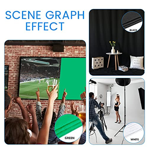 8.5x10FT Backdrop Stand with LED Photography Lighting, 5500K