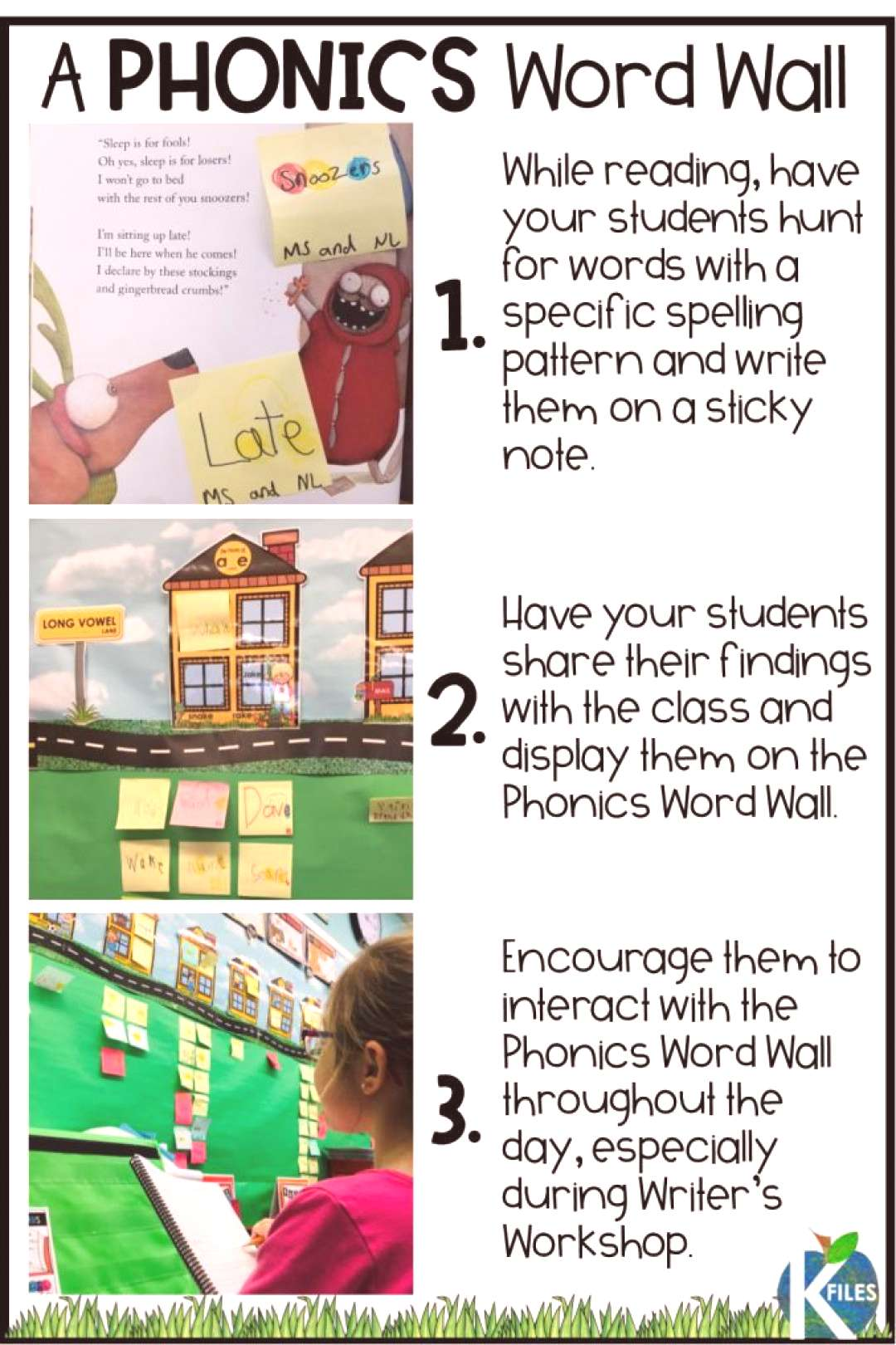 A True Interactive Phonics Word Wall - The K Files Ditch your traditional word wall and go with thi