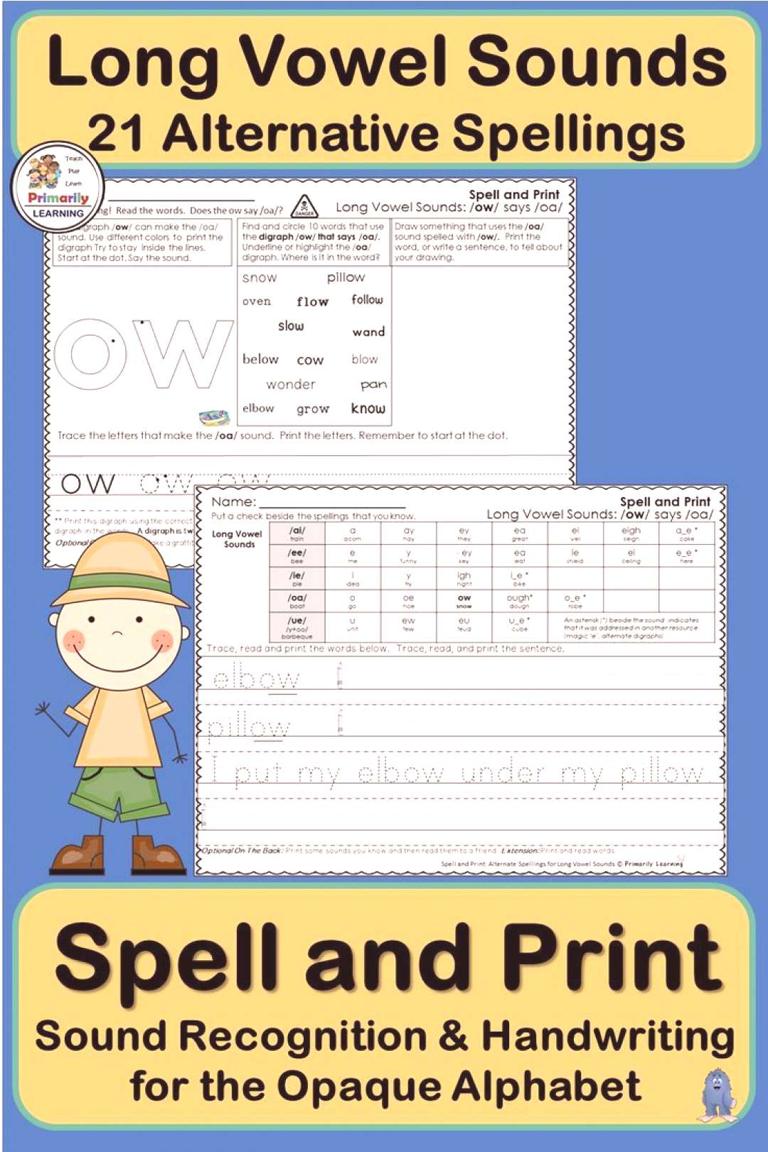 Alternative Spellings amp Handwriting for Long Vowel Sounds supports Jolly Phonics Would you like to
