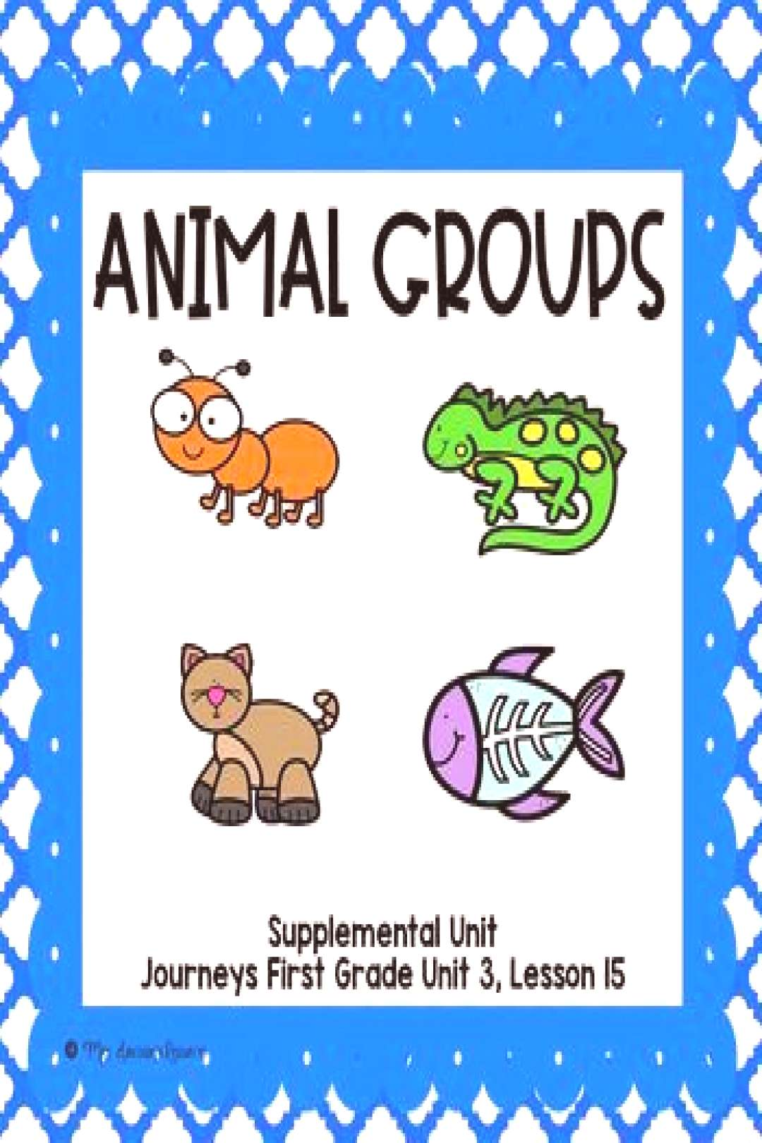 Animal Groups- First Grade Supplemental Unit This resource is a supplemental unit for quotAnimal Group