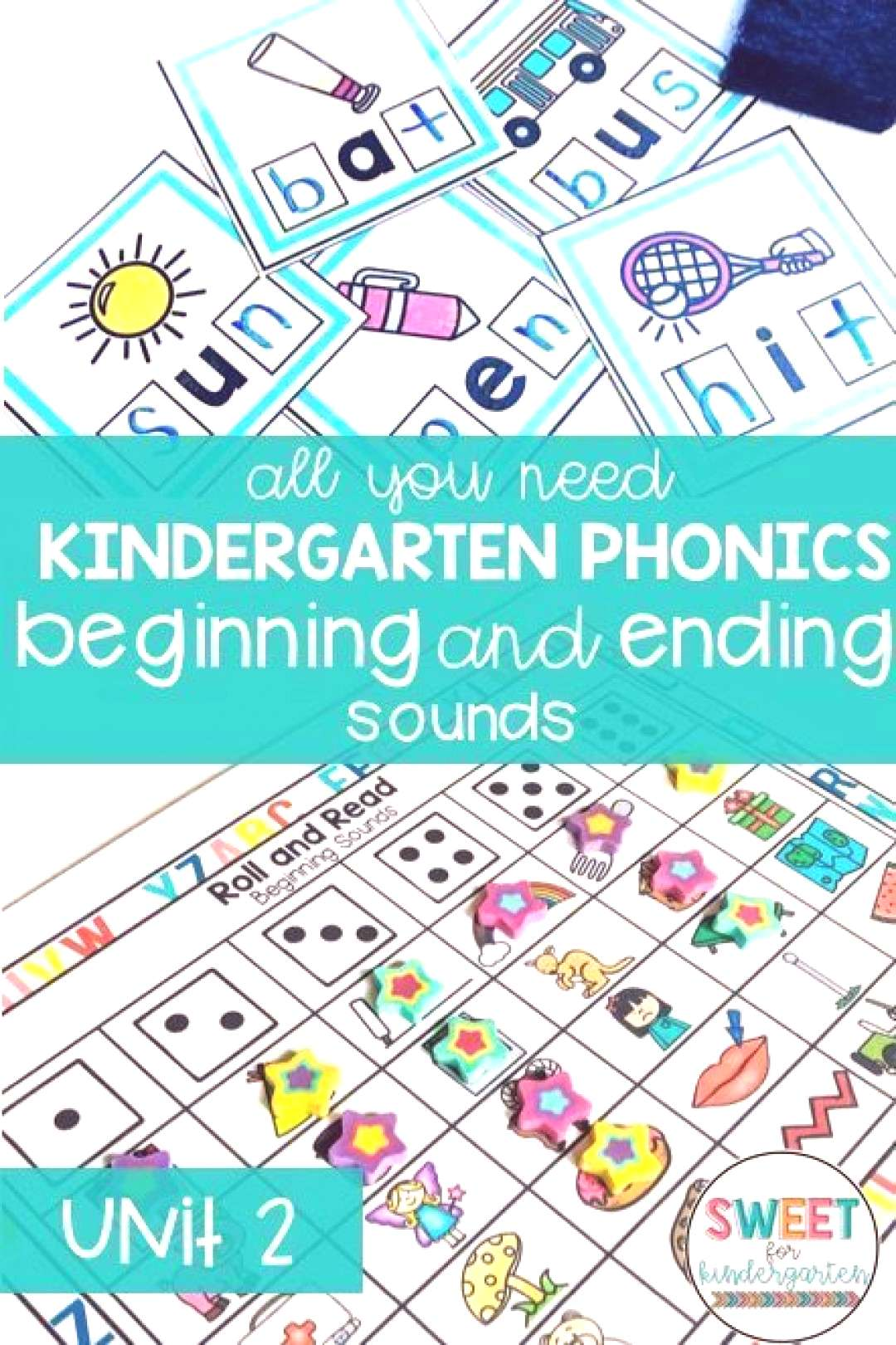 Beginning and Ending Sounds Unit Hands on activities, engaging lesson plans, no prep worksheets and