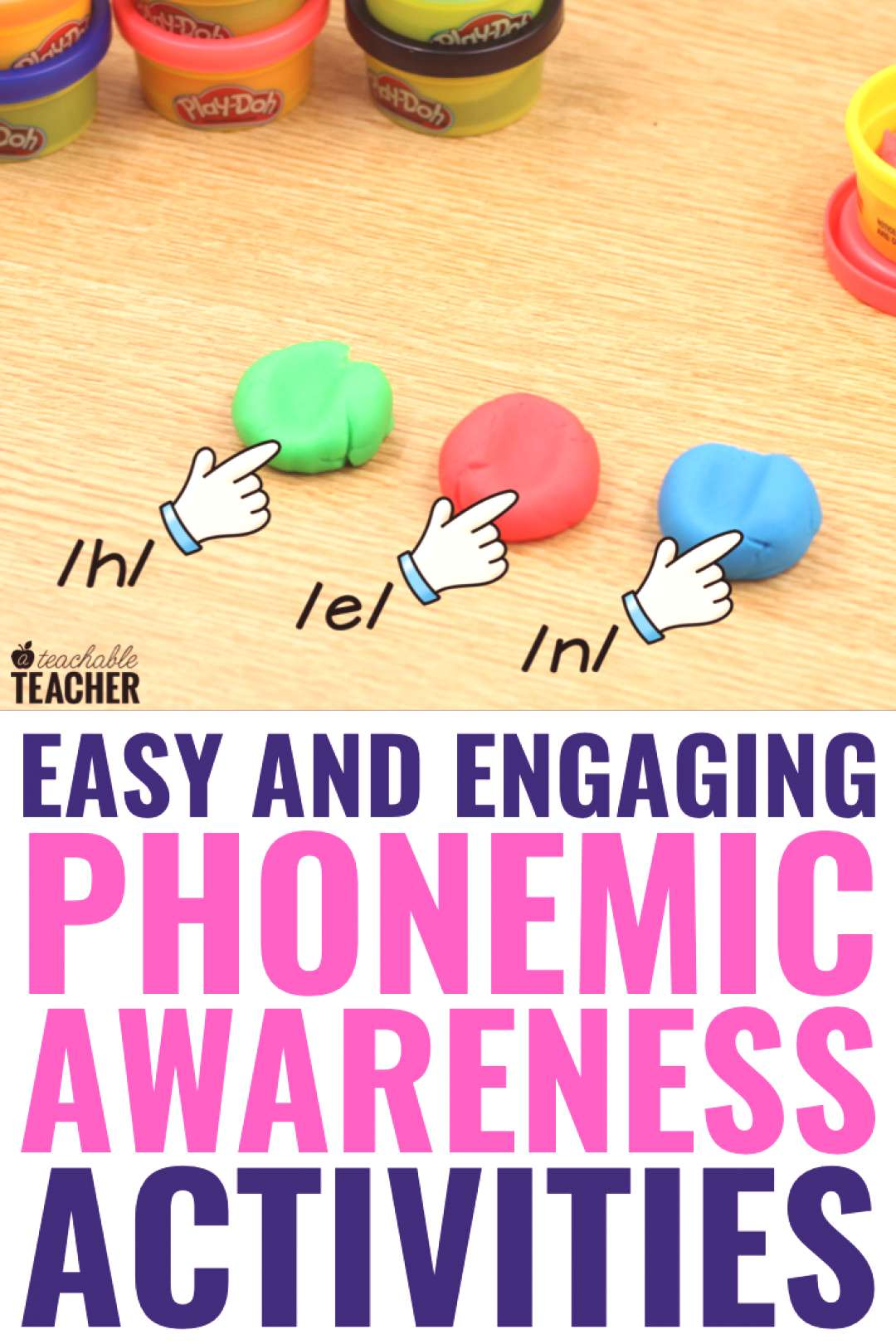 Beginning phonemic awareness activities using items you already have in your classroom! Build phone