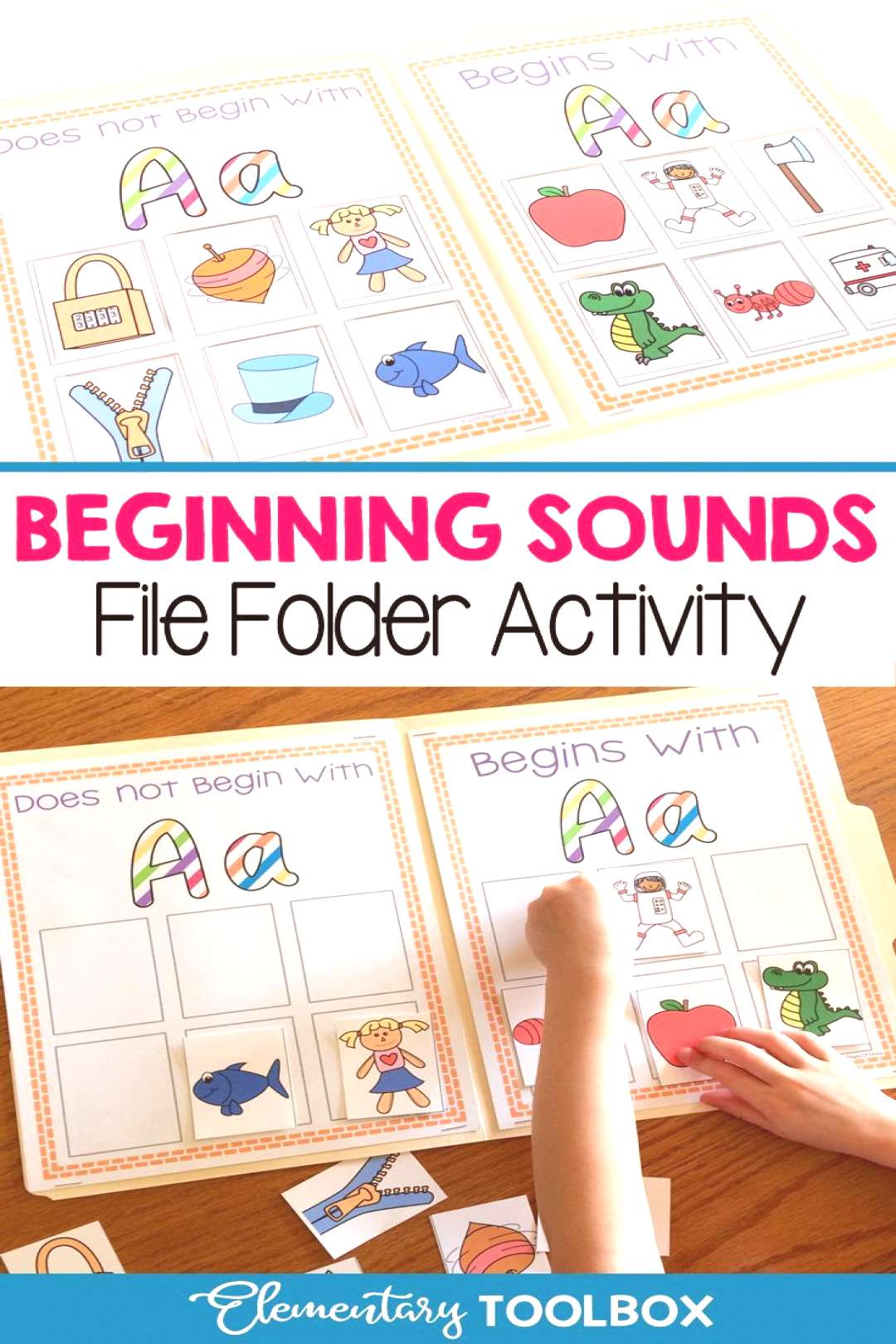 Beginning Sounds File Folder Activity-Letters A-Z Do your students love hands on activities? Help y