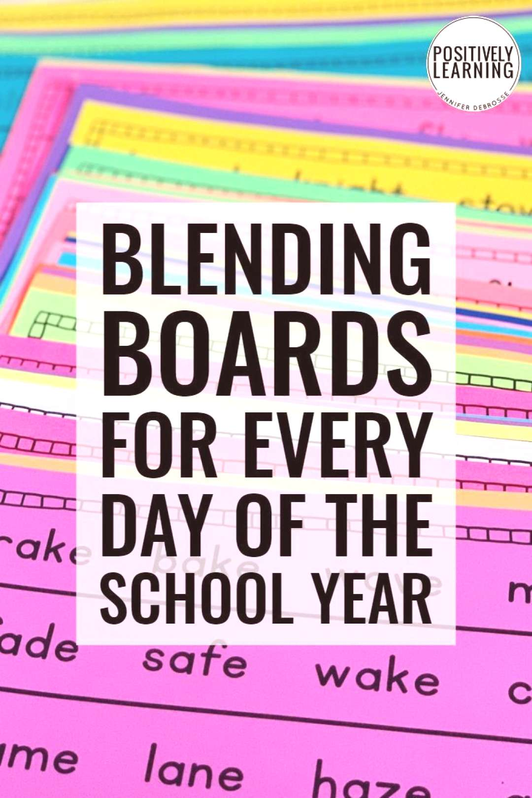 Blending Boards Use blending boards with the whole group, small group, or send home for extra fluen