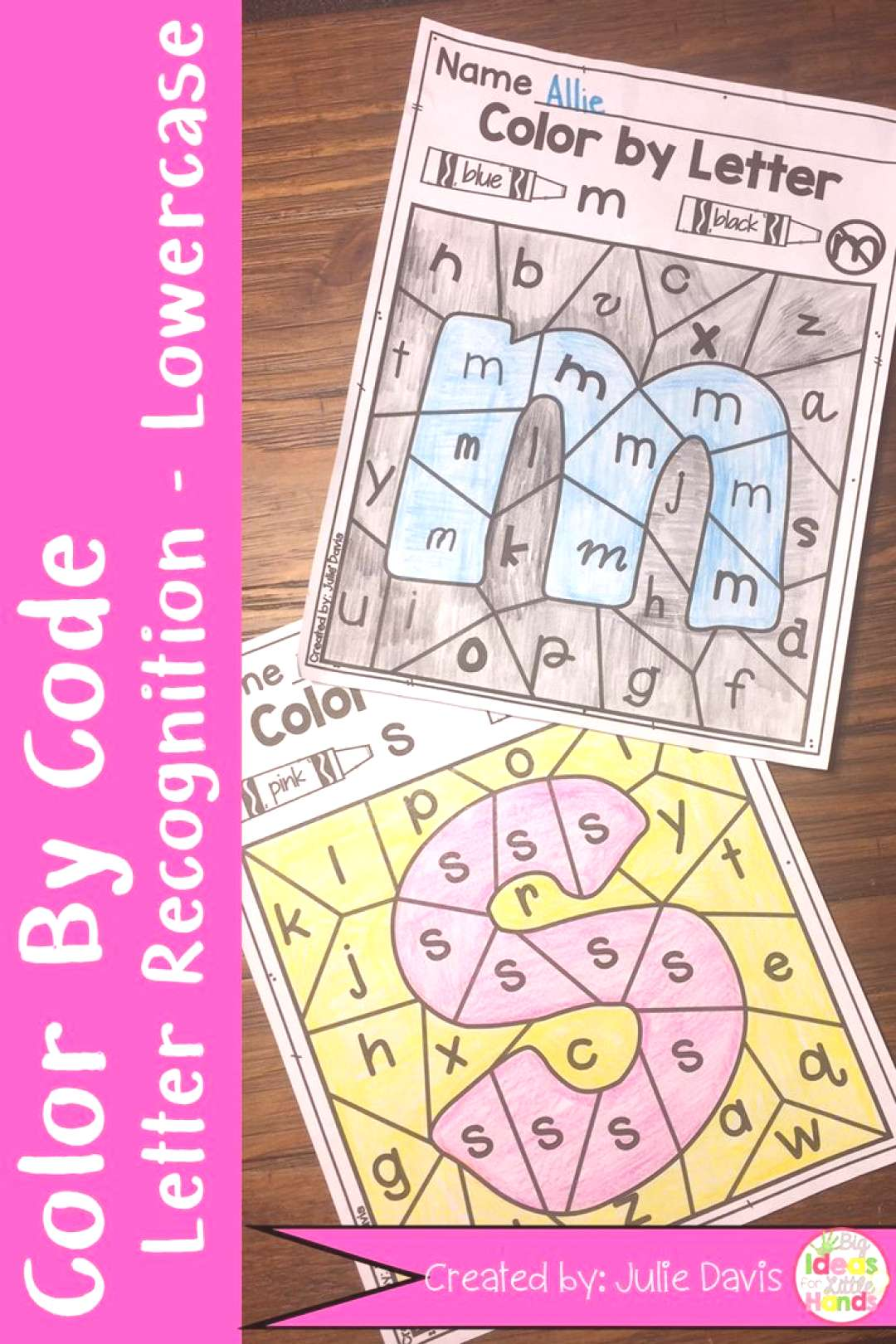 Color by Code Letter Recognition Lowercase Activty and Worksheets Are you looking for a fun activit