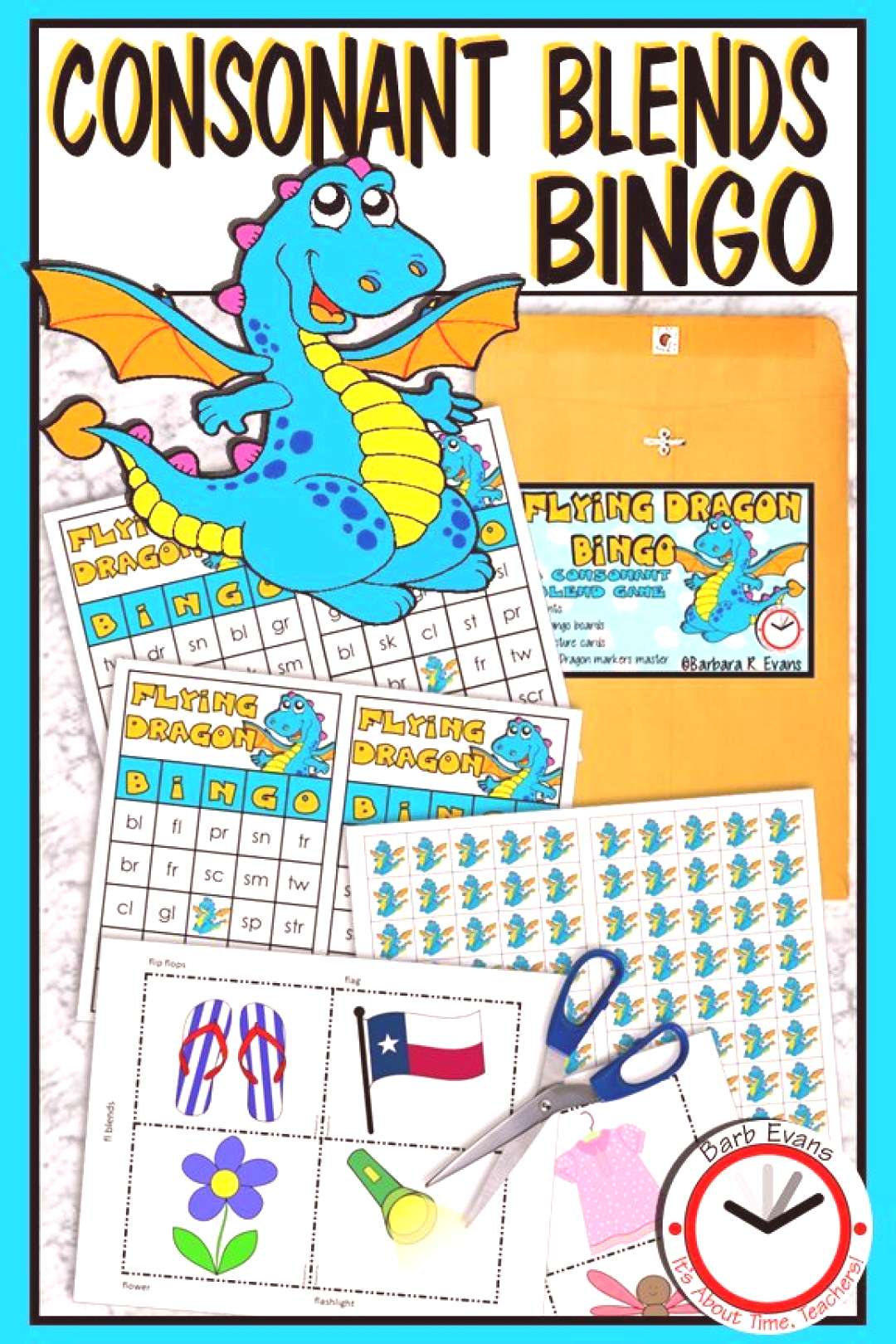 CONSONANT BLENDS and CLUSTERS Flying Dragon Bingo Phonics Letter Sounds Flying Dragon Bingo gives