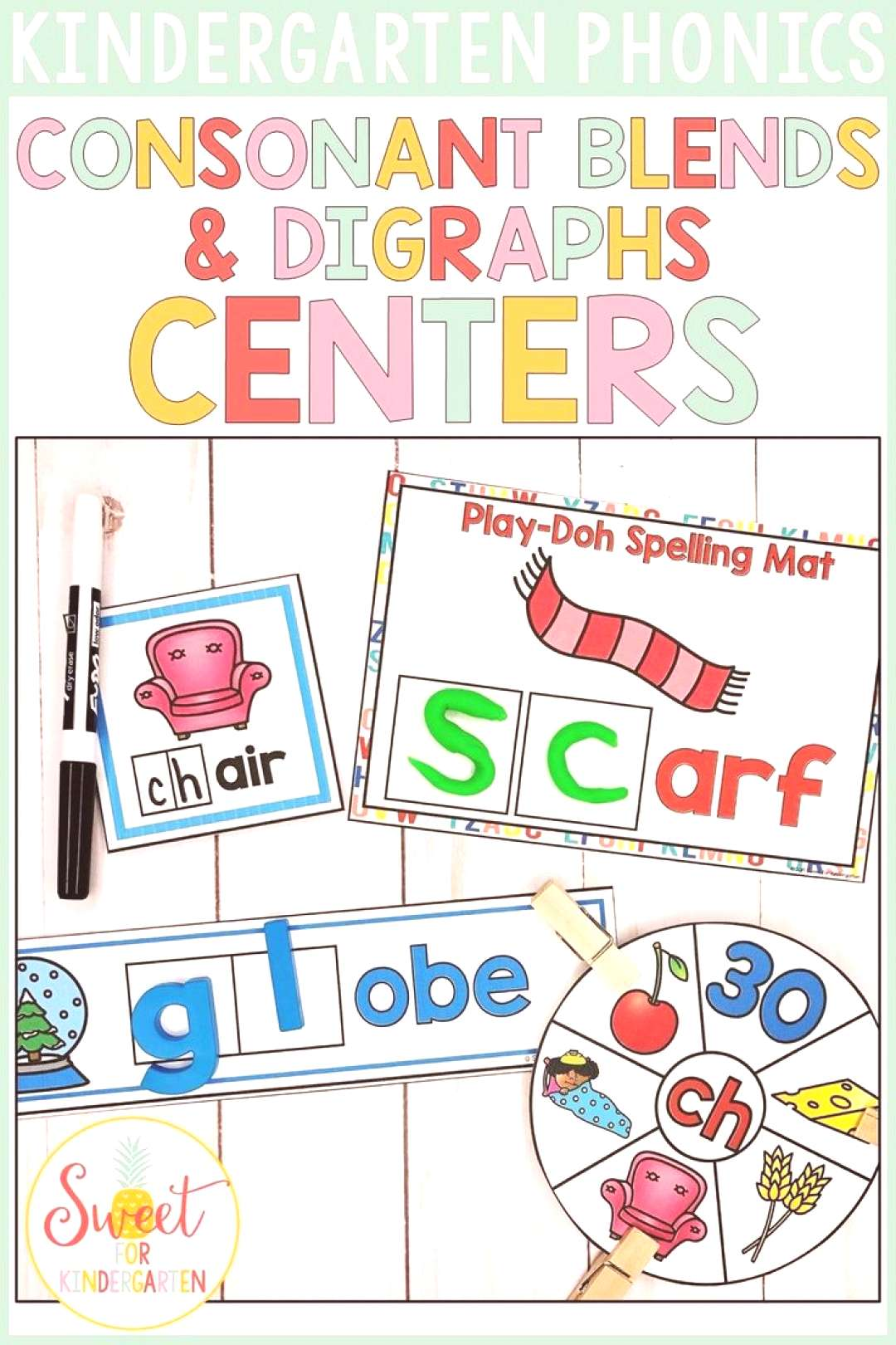 Consonant Blends and Digraphs Check out these 11 centers focusing on both consonant blends and digr