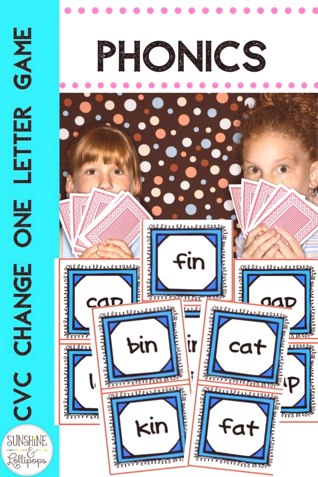 CVC Phonics Game Change One Letter This fun yet challenging game will motivate your first graders t