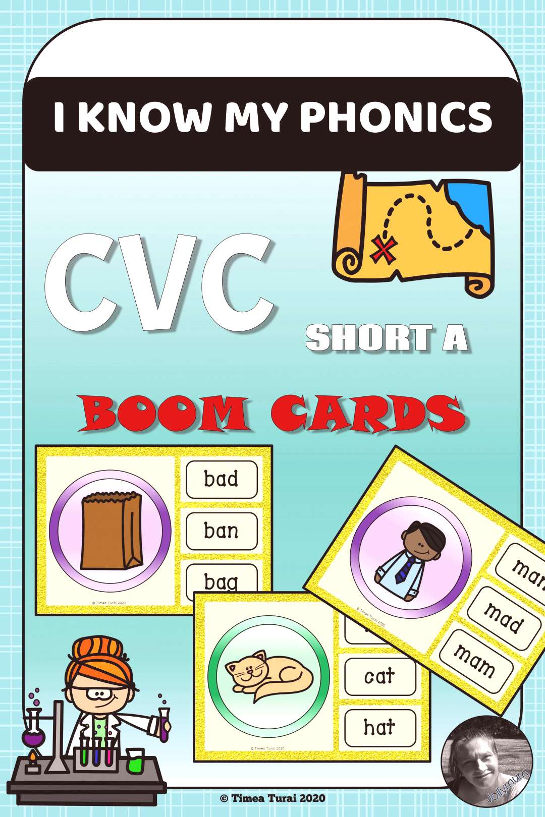 CVC Practice Short A -- BOOM Cards (Distance Learning) You can find 15 multiple choice cards in thi