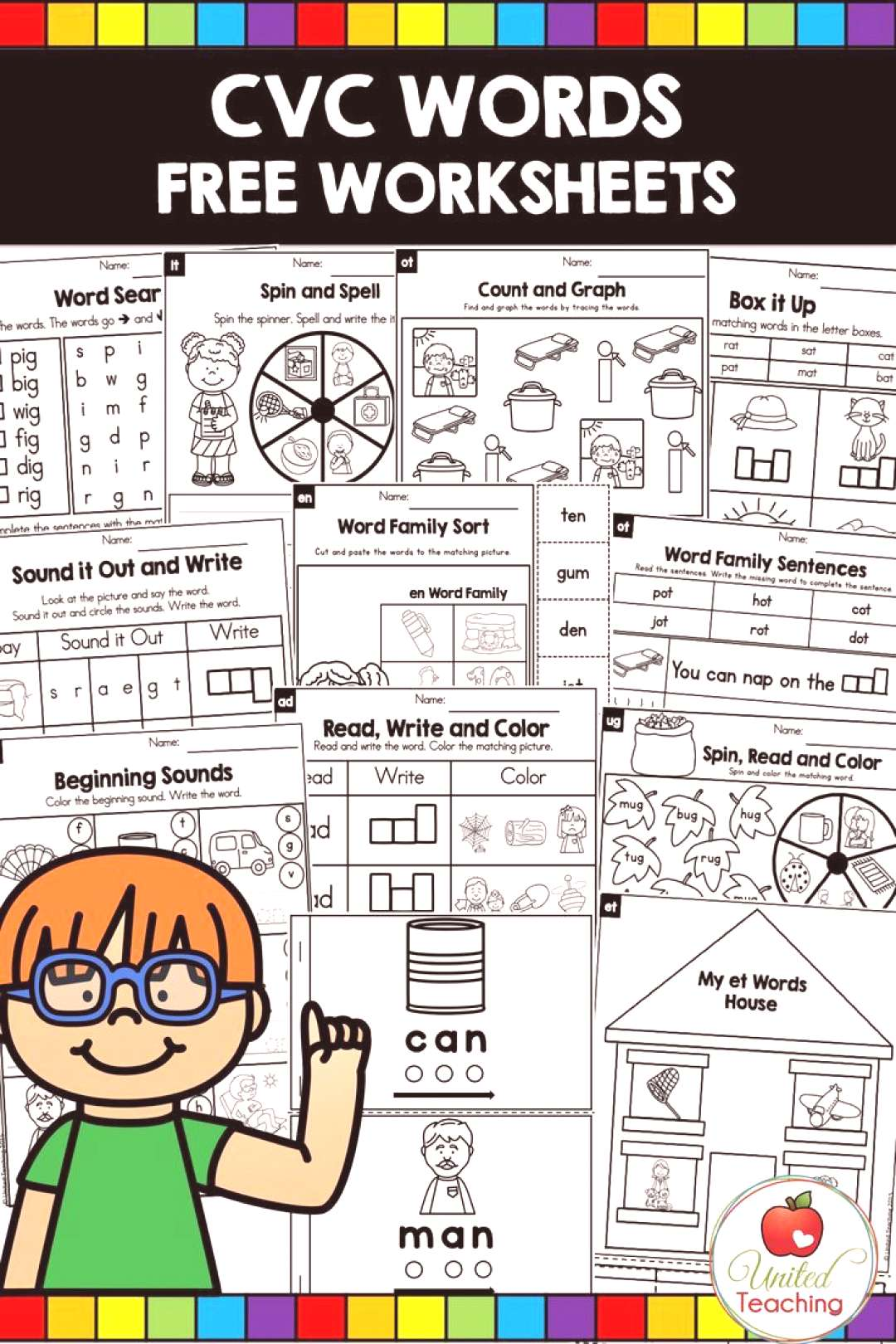 CVC Words Worksheets FREE The CVC word work bundle contains fun and engaging activities for learnin