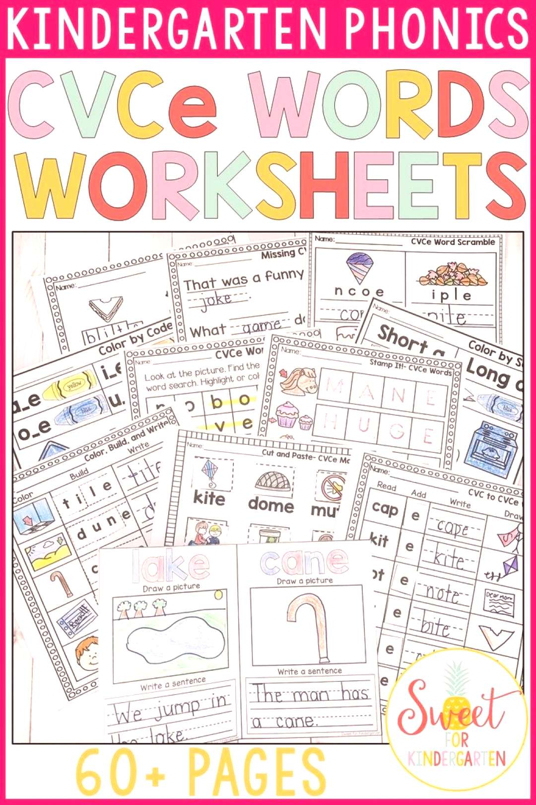 CVCe Words Worksheets All the worksheets your students need to practice and learn CVCe words. Use t