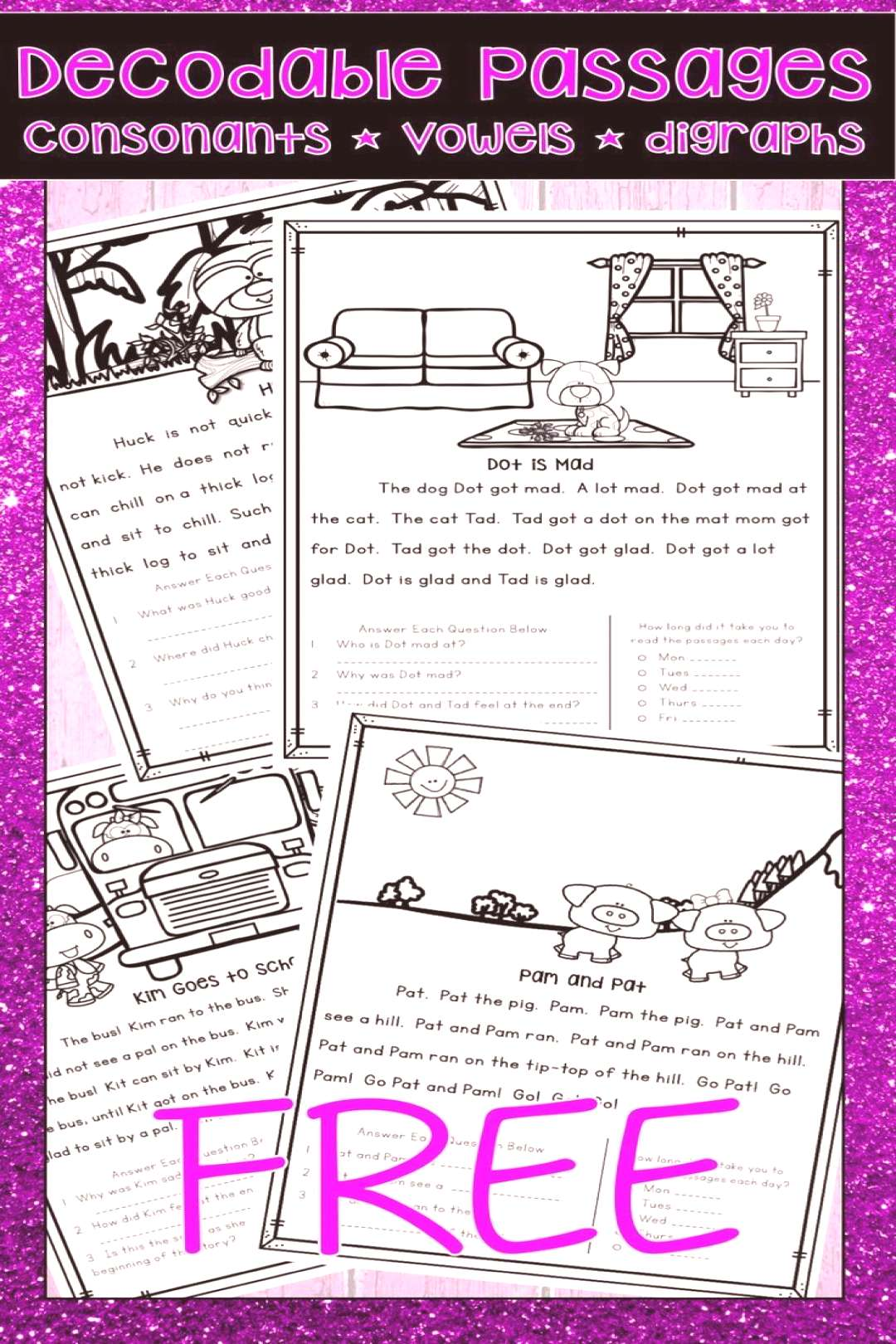 DECODABLE TEXT PASSAGES FREE PAIRS WELL WITH ORTON GILLINGHAM PHONICS FIRST DECODABLE TEXT PASSAGES