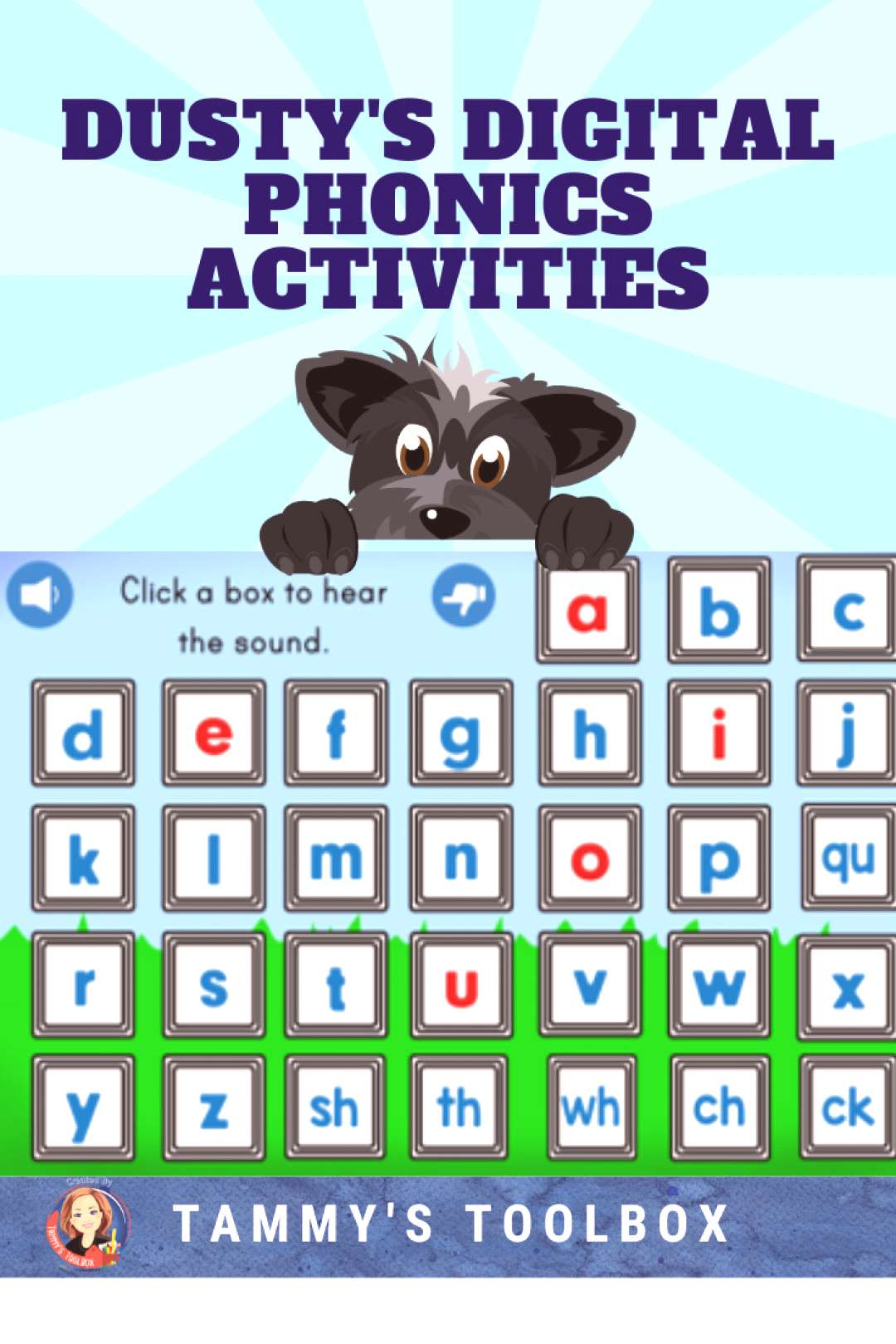 Digital Phonics Boom Cards for Distance Learning Practice letter sounds and CVC word blending with
