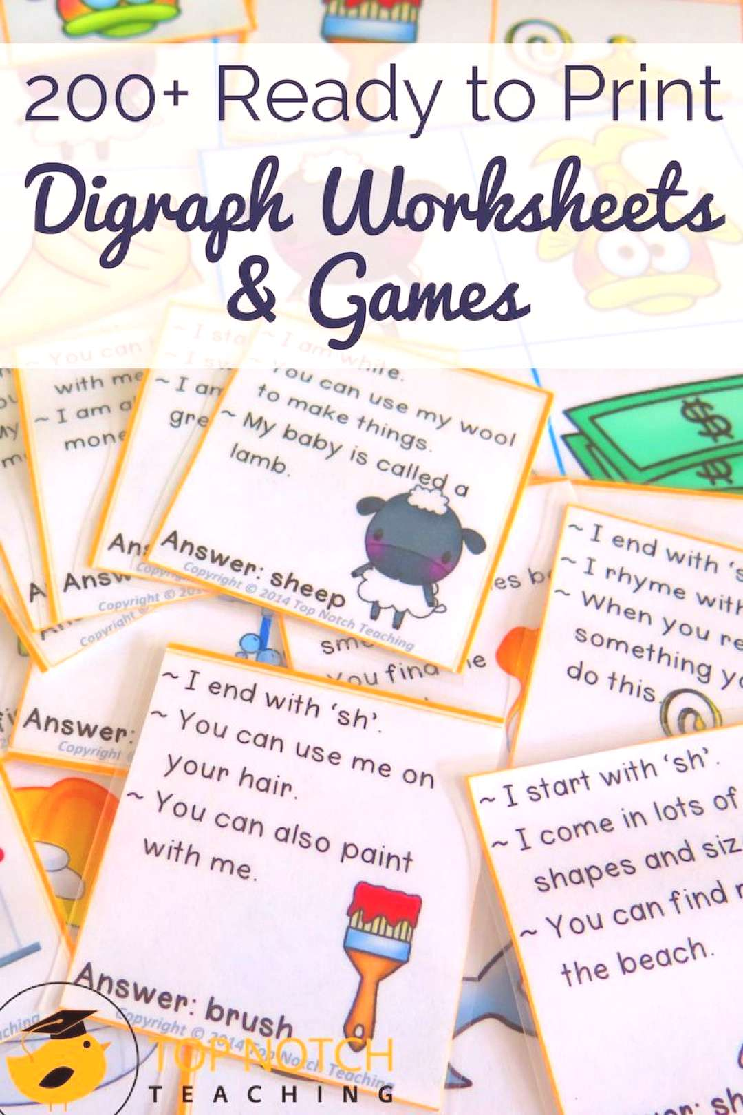Digraph Worksheets and Activities Bundle - Top Notch Teaching Do you have students that need a litt