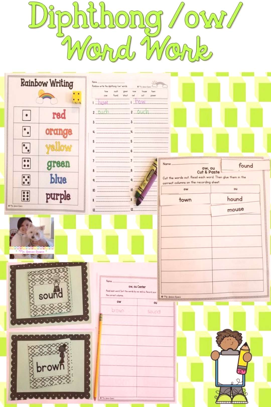 Diphthong ow Word Work These hands-on and engaging diphthong /ow/ word work activities will help st