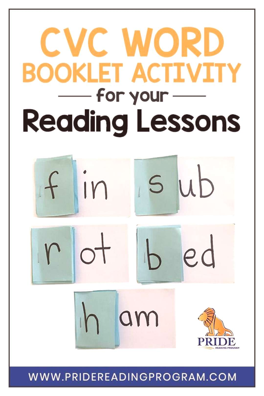 DIY cvc Word Booklet Activity for your Reading Lessons This DIY cvc word booklet activity is so eas