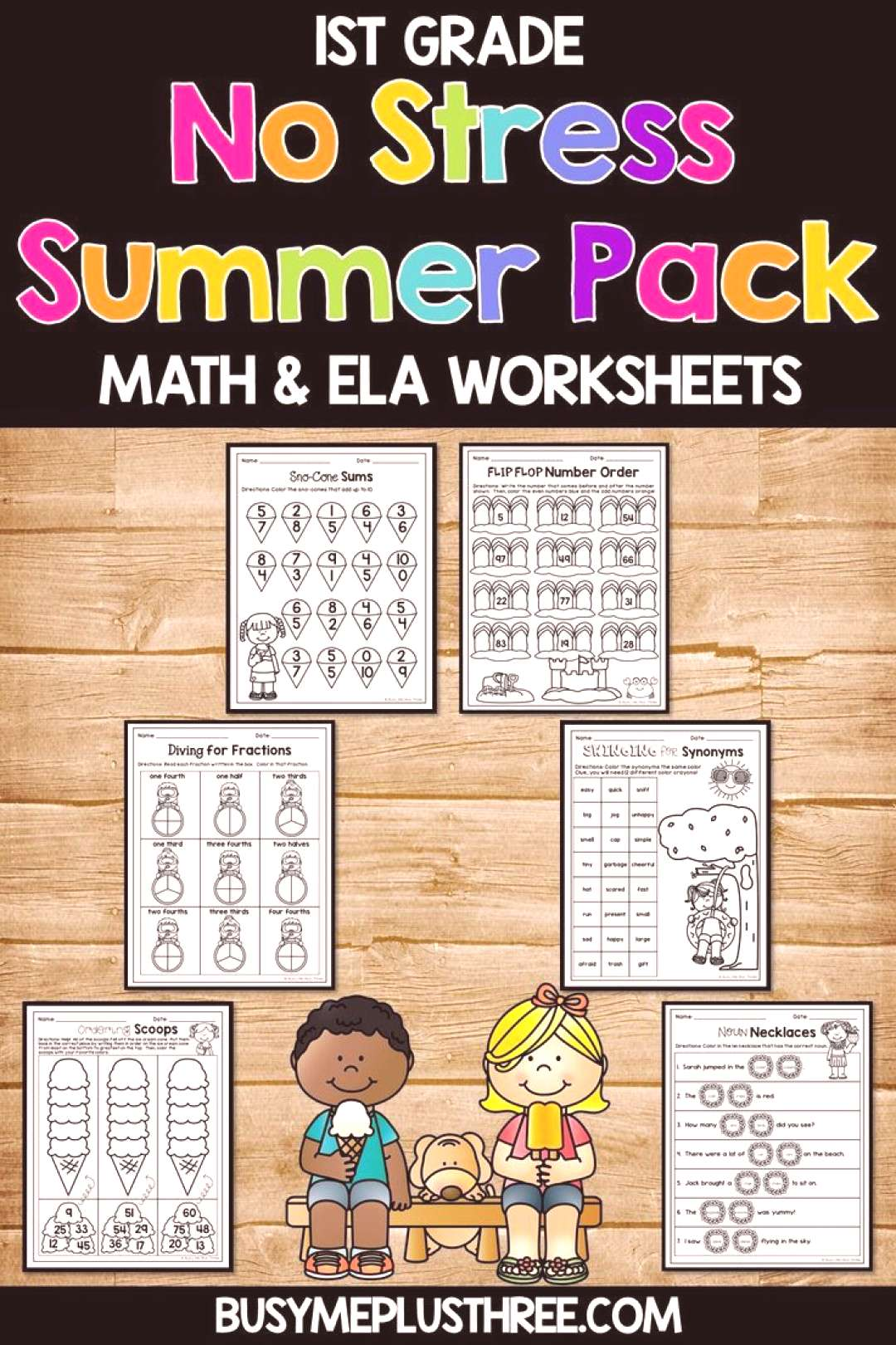 End of the Year NO STRESS Summer Pack, Math amp Literacy, 1st Grade Are you looking for fun filled wo