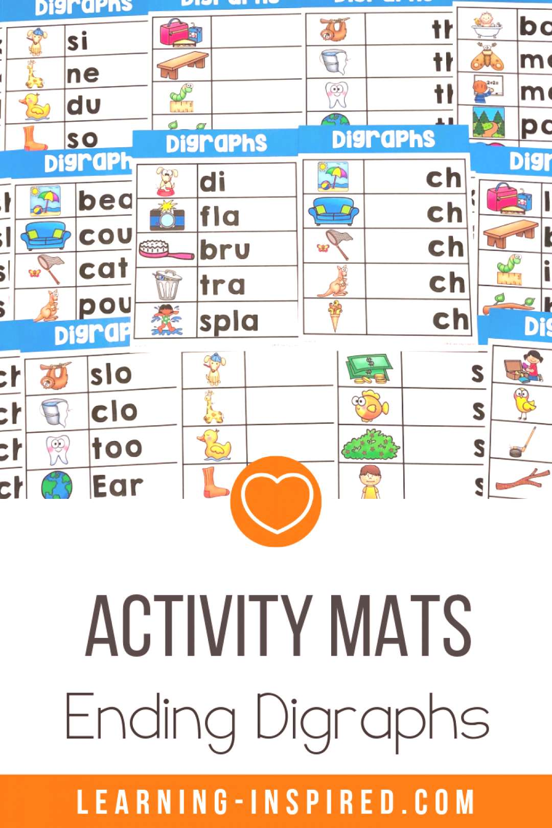 Ending Digraphs Word Work Activities Looking for quick, easy, and engaging literacy activities? The