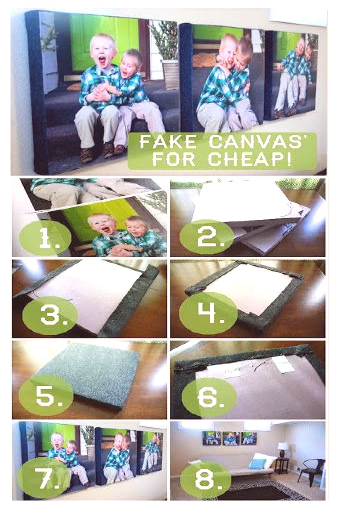 Fake Photo Canvas using Fabric and Insulation