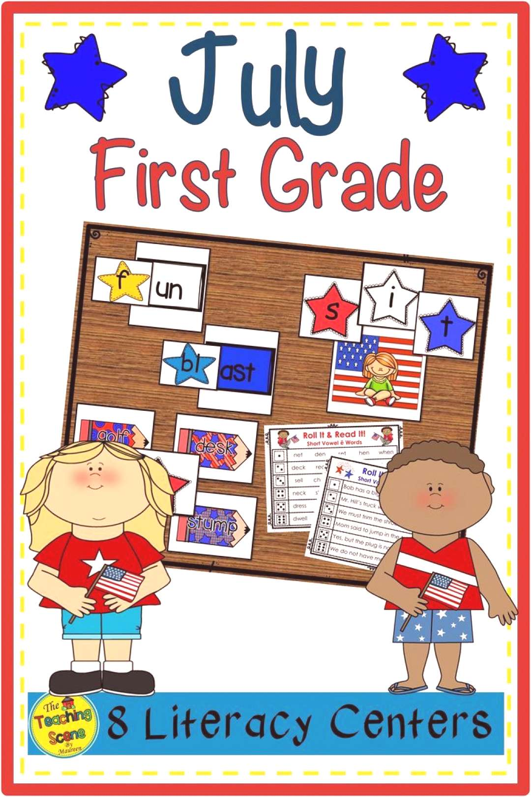 First Grade Literacy Centers July Looking for some July literacy centers for your First Grade cla