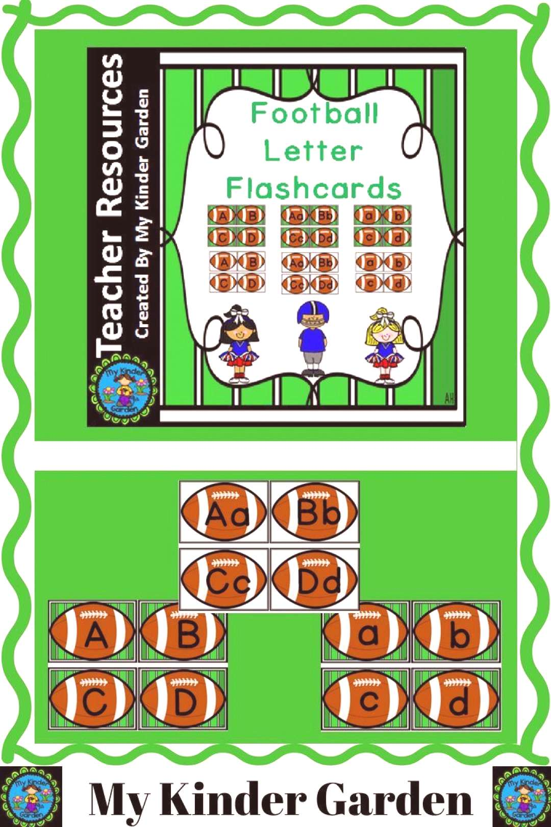 Football Alphabet Letter Flashcards Get the sports enthusiasts in your classroom excited about lear