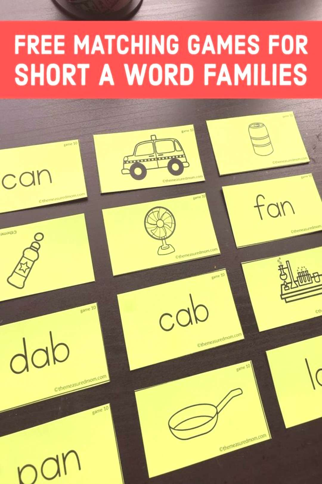 Free CVC word matching games Try this fun way to practice reading short a word families! Kids can m