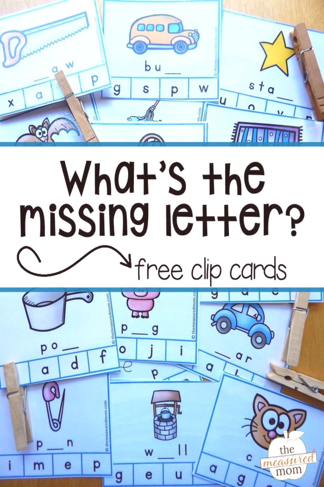 Free missing letter activity - The Measured Mom Looking for a middle sounds activity? Build phonics
