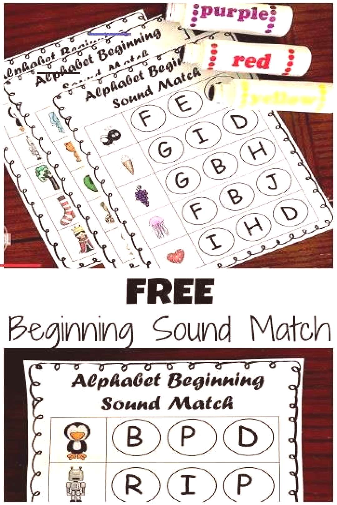 FREE Phonics Beginnign Sound Do-a-Dot Worksheets - these are such a fun way for kids to practice id