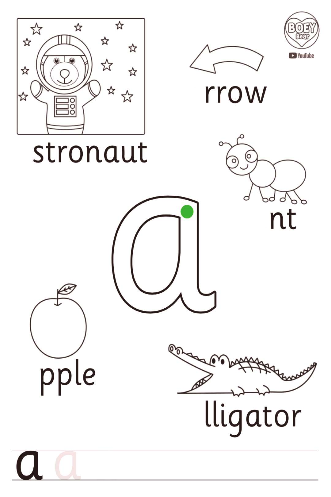 Free Phonics Printable amp the Letter A! Free Phonics Printable amp the Letter A! ampx1f43b BOEY Bear