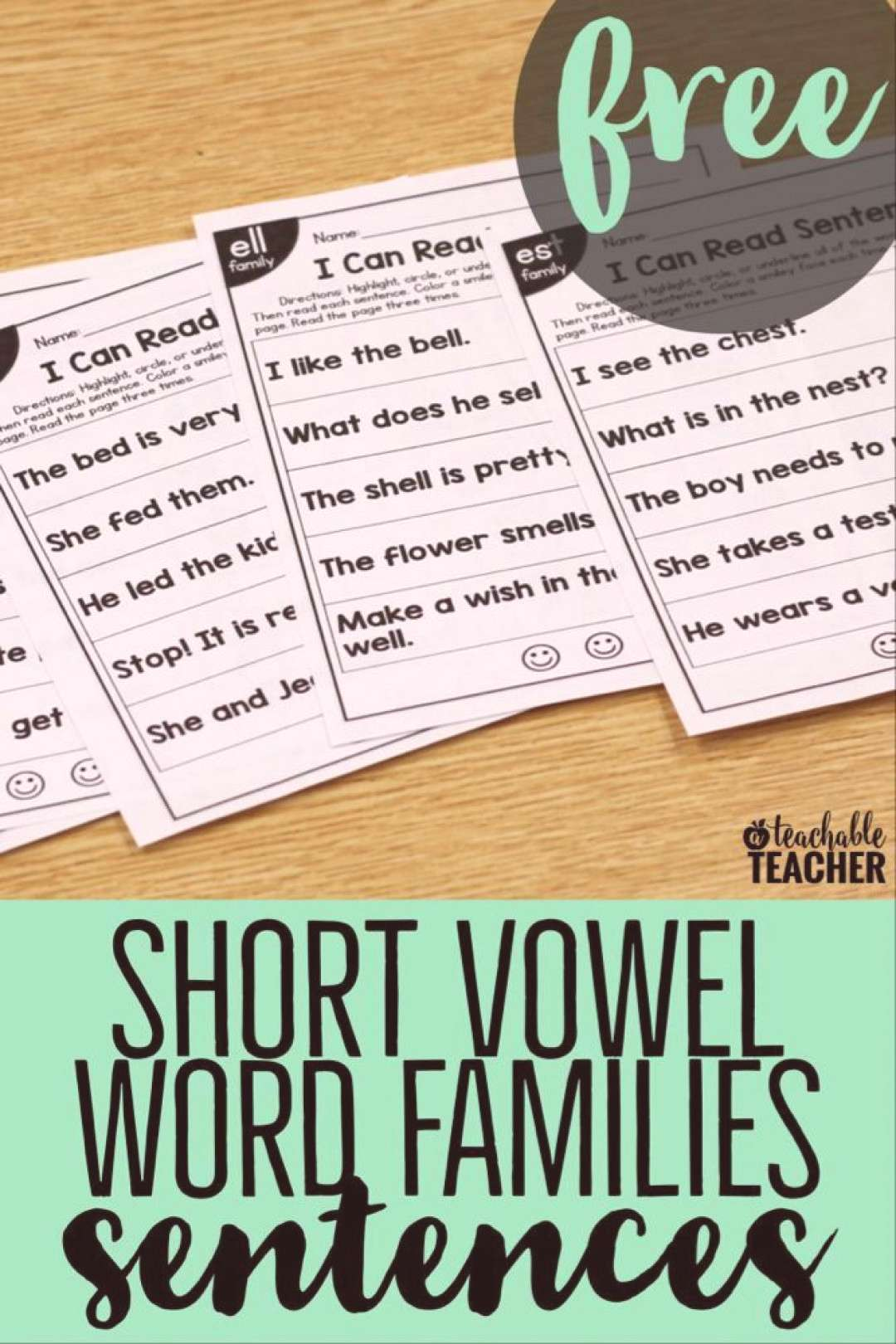 FREE Phonics Sentences Activities to Build Mastery and Fluency -