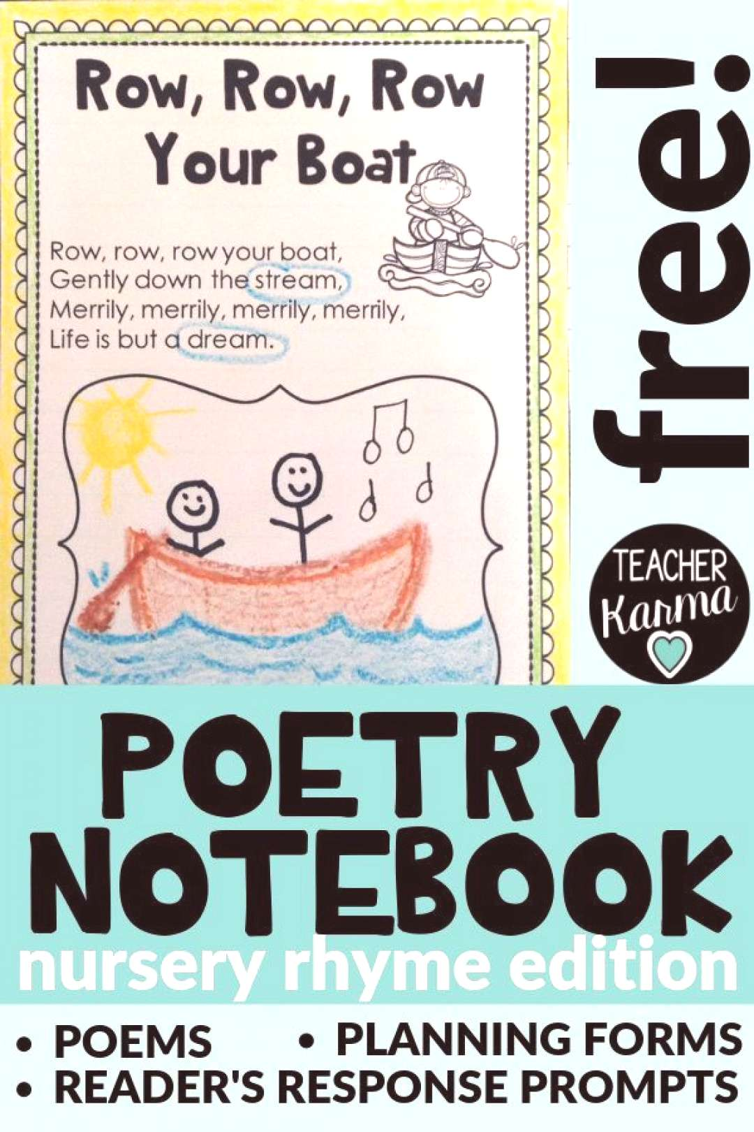 FREE Poetry Notebook Will Change Your Teaching Life — Teacher KARMA Click on the pin to grab the
