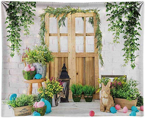 Funnytree 8x6FT Fabric Spring Happy Easter Photography