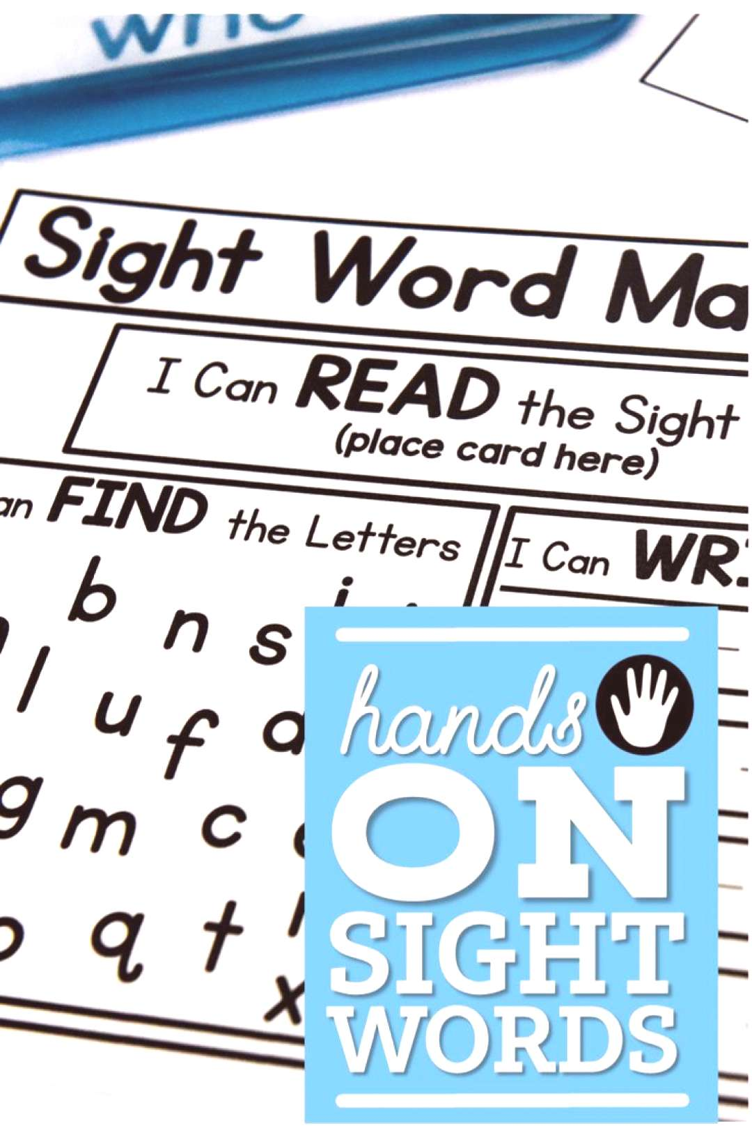 Hands-On Sight Words (Free Resources) Phonics and phonemic awareness were still integral parts of m