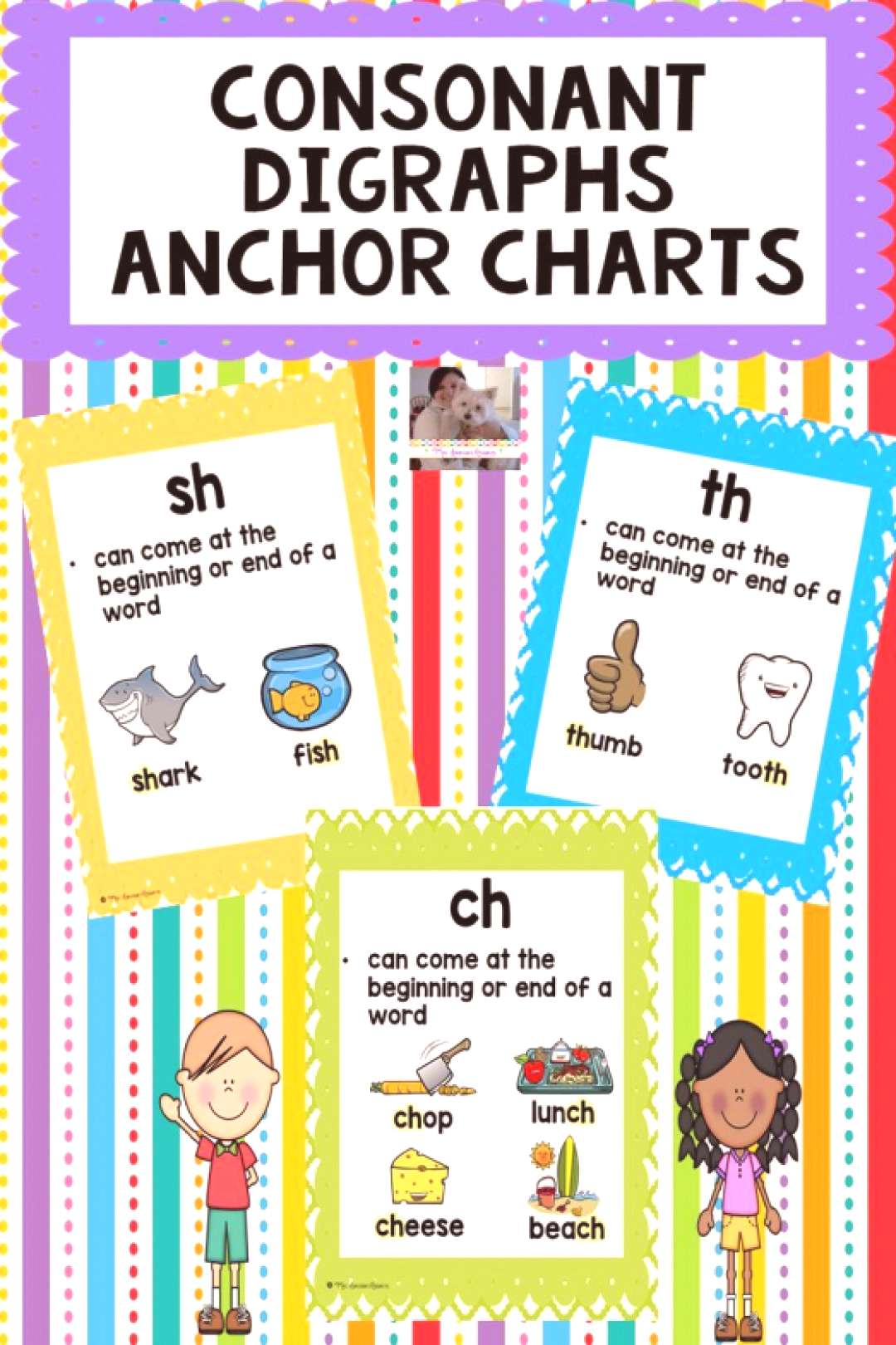 Here are consonant digraphs anchor charts that will help your students learn consonant digraphs and
