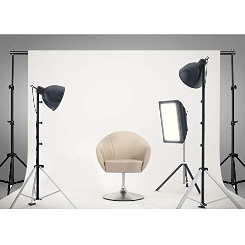 HGMN White Backdrop with Stand, 8.5 x 10 ft Wide Photo