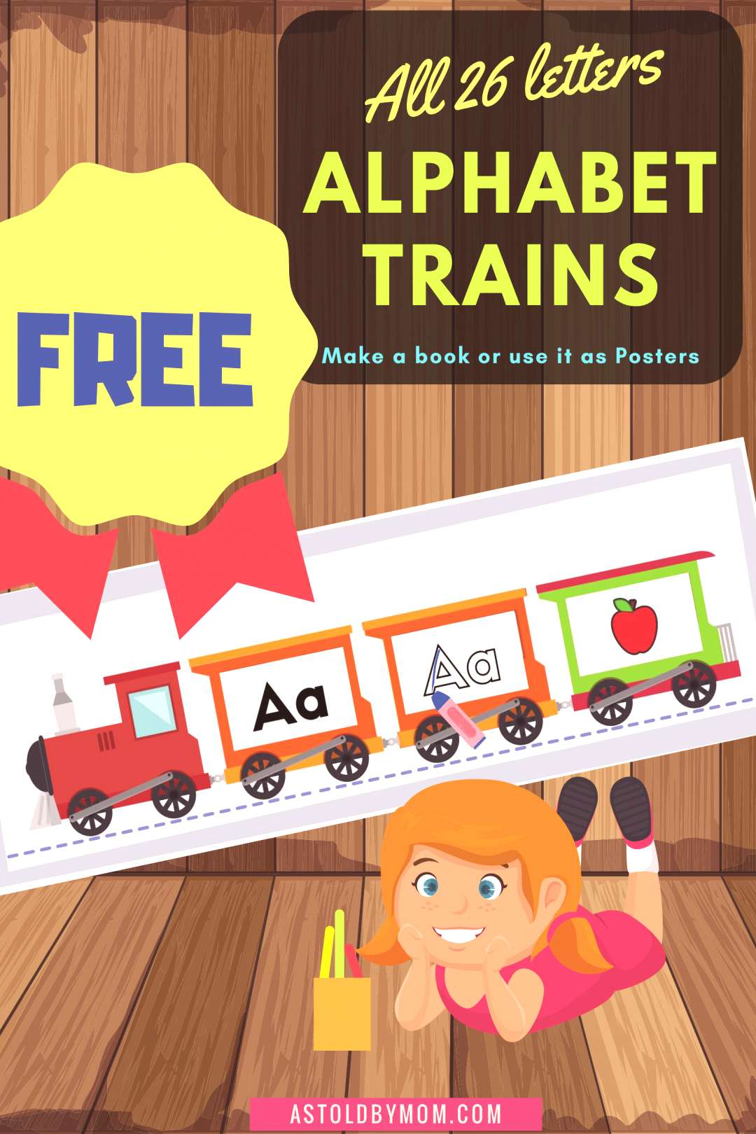 Homeschool FREE Alphabet Book CRAFTS for kids to download READ TRACE Color PHONICS. Getting Bored
