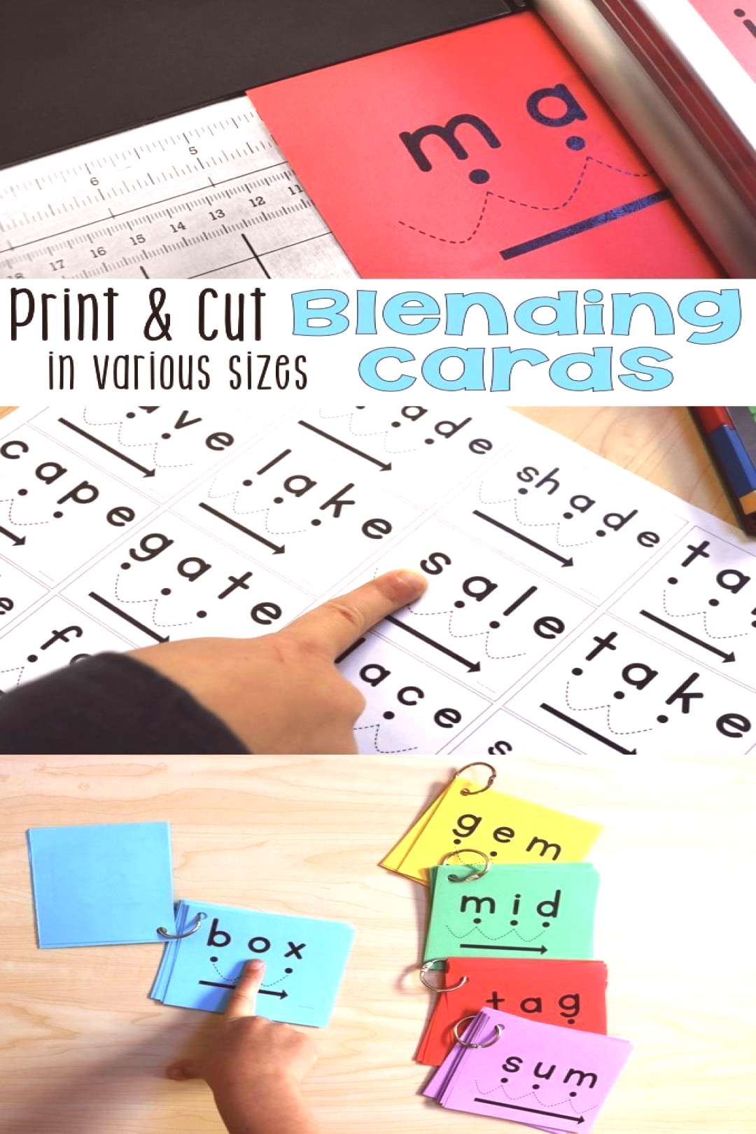 How to Print the Blending Cards in a Variety of Formats • What I Have Learned How to Print Blendi