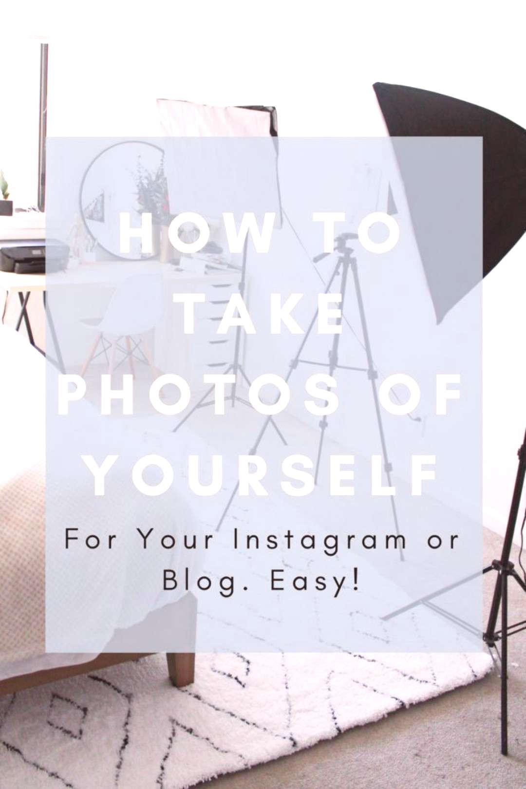 How to take photos of yourself for your blog or your social media! Take photos all by yourself no p