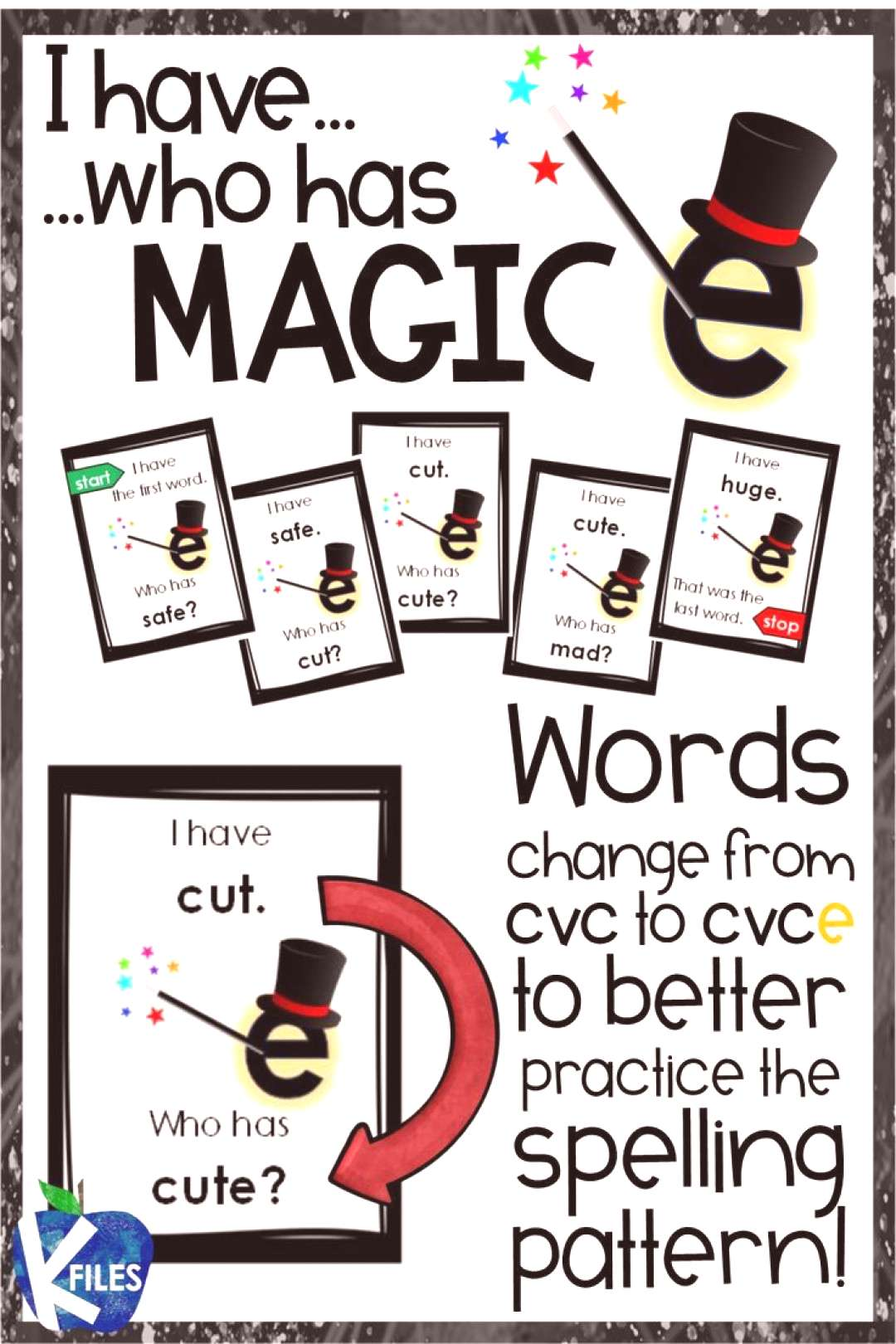 I have, Who Has? CVCe quotMagic Equot Phonics Game This is hands down a fun way to review the silent e sp