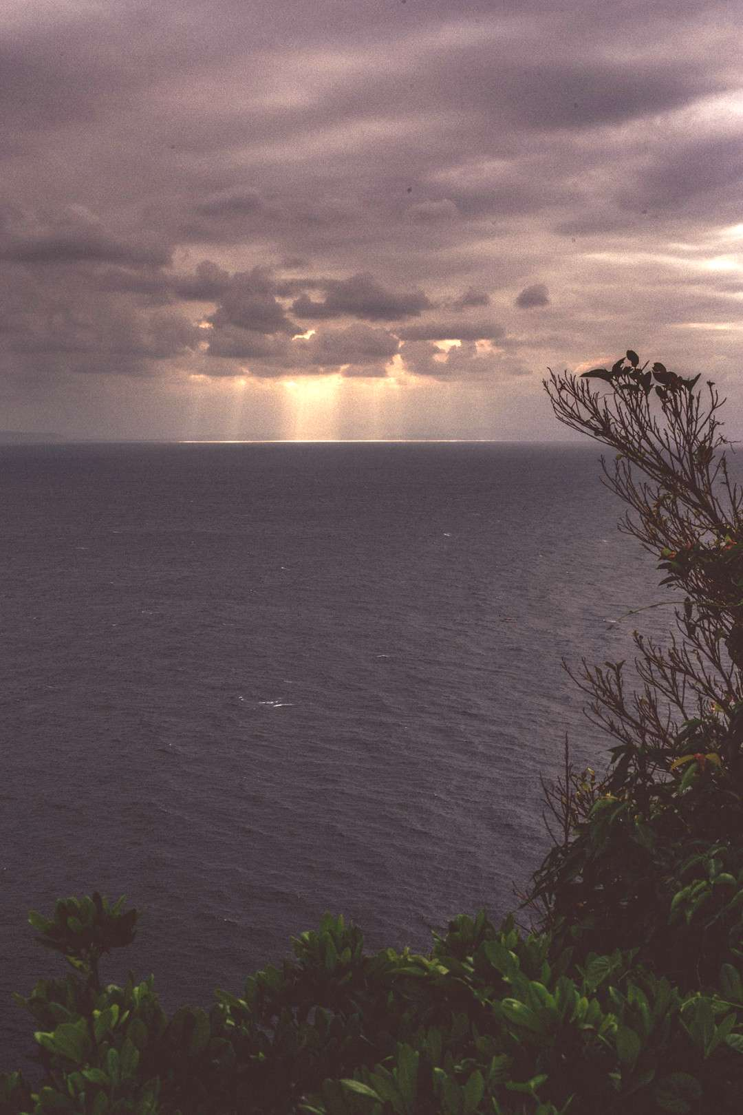 I love when paradise islands show their gloomy sides! -