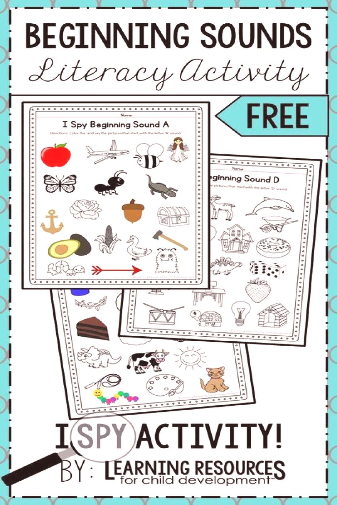 I Spy Beginning Sounds Phonics / Initial Sounds Activity! This activity is so much fun to learning