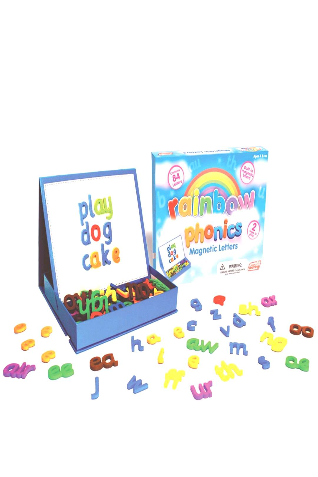 Junior Learning Rainbow Phonics Magnetic Letters amp Built-In Magnetic Board