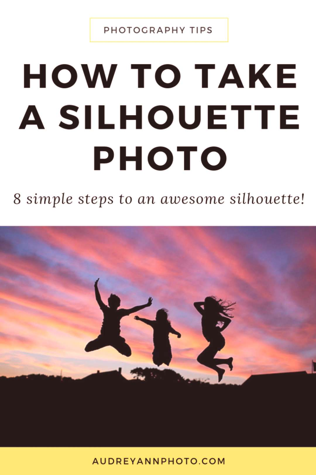 Learn how to take a silhouette picture step by step with this photography tutorial! Taking silhouet