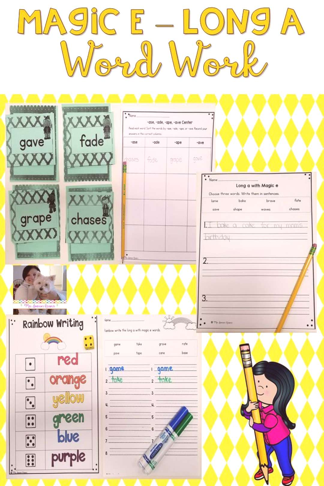 Long a Magic e Word Work These hands-on and engaging long a with magic e word work activities will