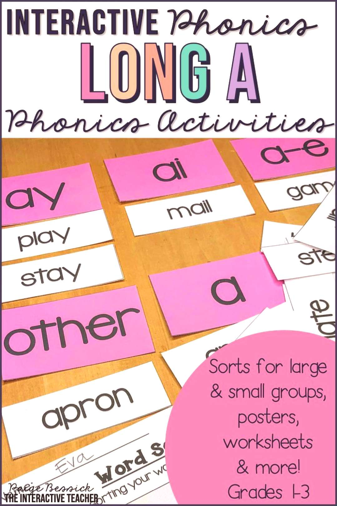 Long a Word Work Activities - Sorts, Worksheets amp Poems Long vowel a worksheets, sorts and activiti